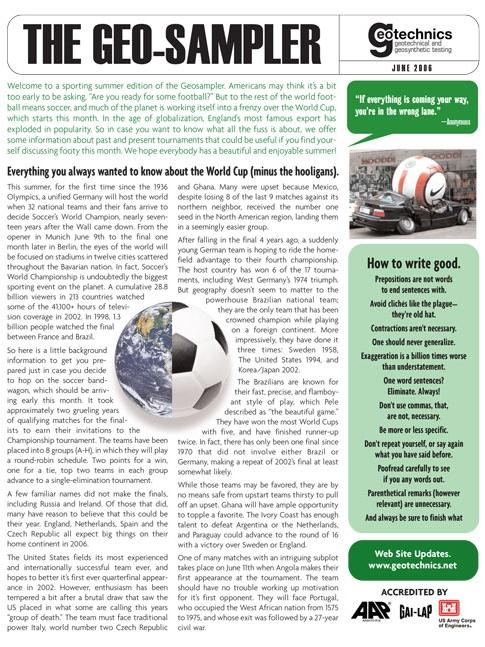 Geo-Sampler, June 2006