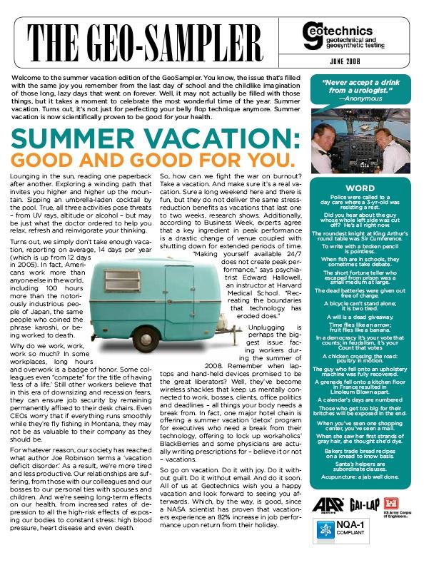 Geo-Sampler, June 2008