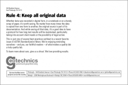 Rule 4: Keep all original data