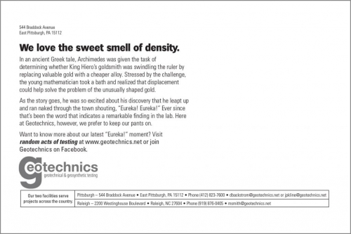 We love the sweet smell of density.