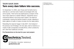 Turn every dam failure into success.