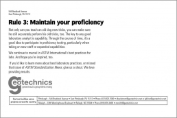 Rule 3: Maintain you proficiency.