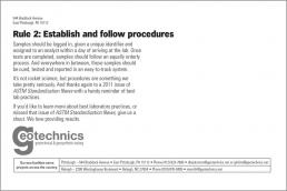 Rule 2: Establish and follow procedures.