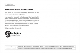 Better living through accurate testing.