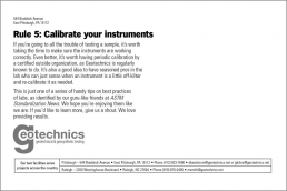 Rule 5: Calibrate you instruments.