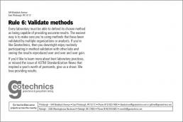 Rule 6: Validate methods