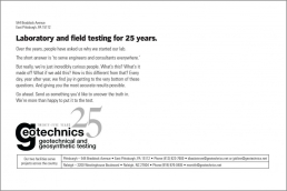 Laboratory and field testing for 25 years.