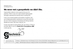 We never met a geosynthetic we didn't like.