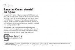 Bavarian Cream donuts? Go figure.
