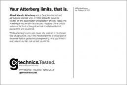 Your Atterberg limits, that is. Geotechnical Engineering