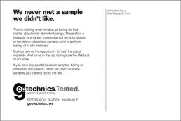 We never met a sample we didn't like. Geotechnical Engineering