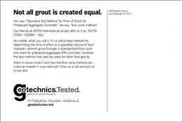 Not all grout is created equal. Geotechnical Engineering