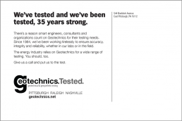 We've tested and we've been tested, 35 years strong. Geotechnical Engineering