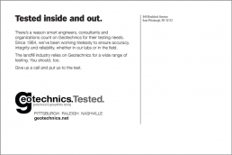 Tested inside and out. Geotechnics