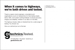 When it comes to highways, we're both driven and tested.