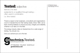Tested: adjective Geotechnics
