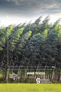 Wind tested. Geotechnics