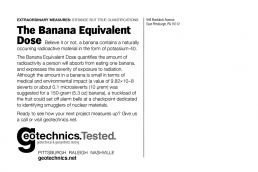 The Banana equivalent dose